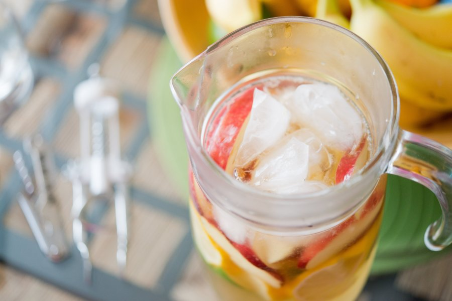 Two-Ingredient White Sangria | thedomesticblonde.com