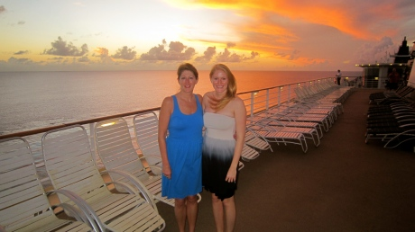 Sunset as we set sail from St. Croix