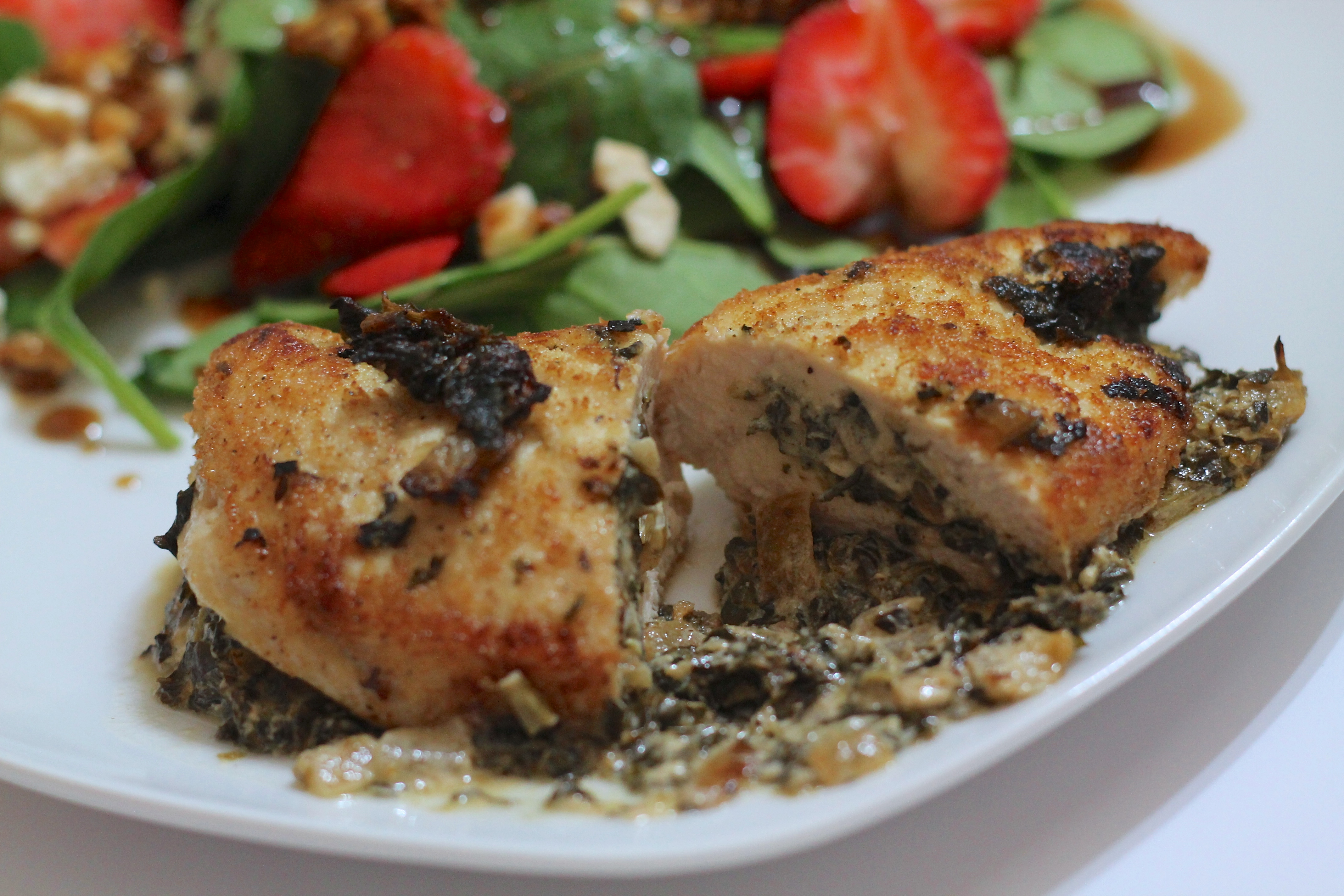 Spinach Amp Goat Cheese Stuffed Chicken Breasts