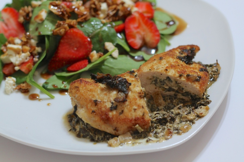 Spinach & Goat Cheese-Stuffed Chicken Breast