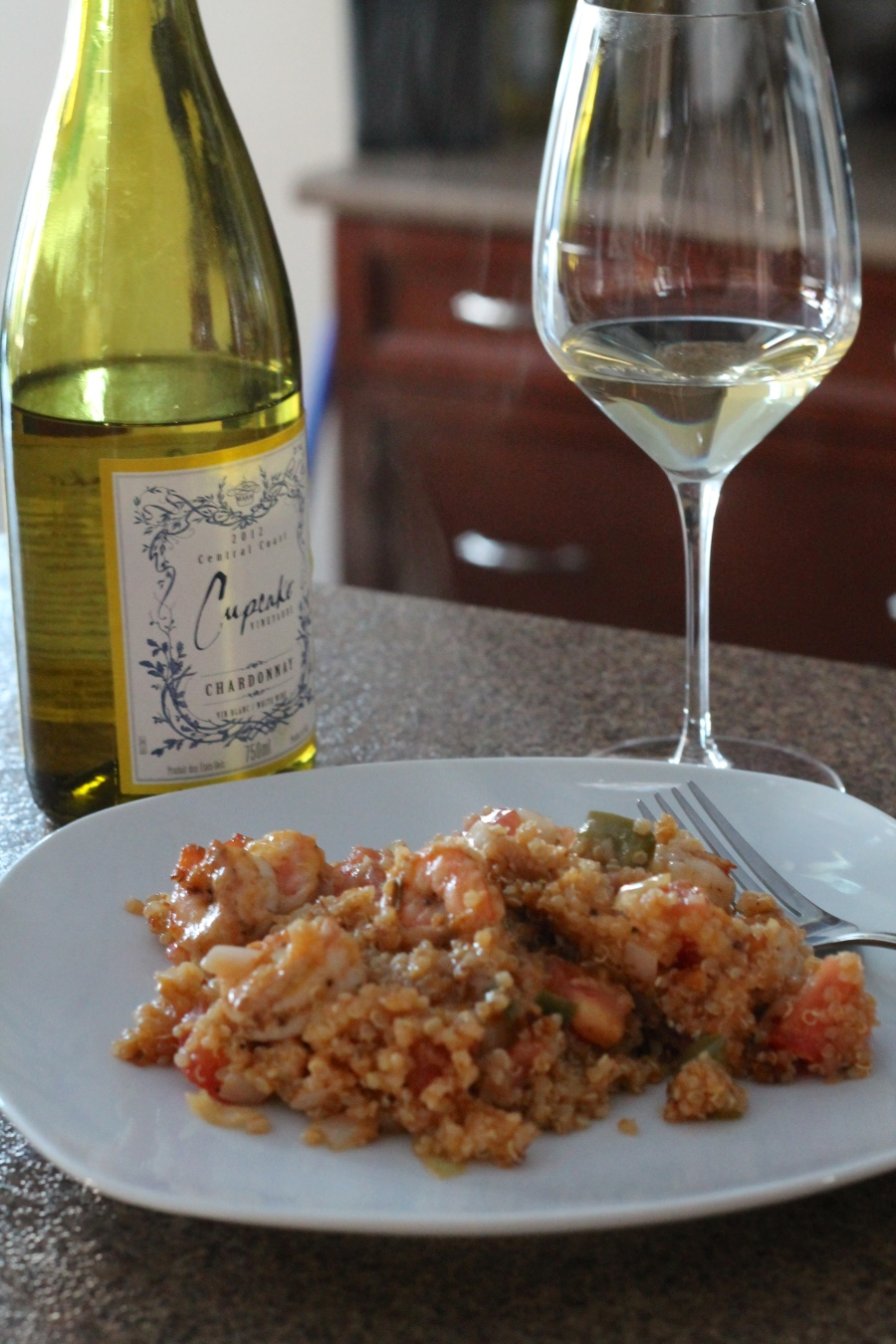 Cajun Shrimp & Quinoa Skillet Casserole