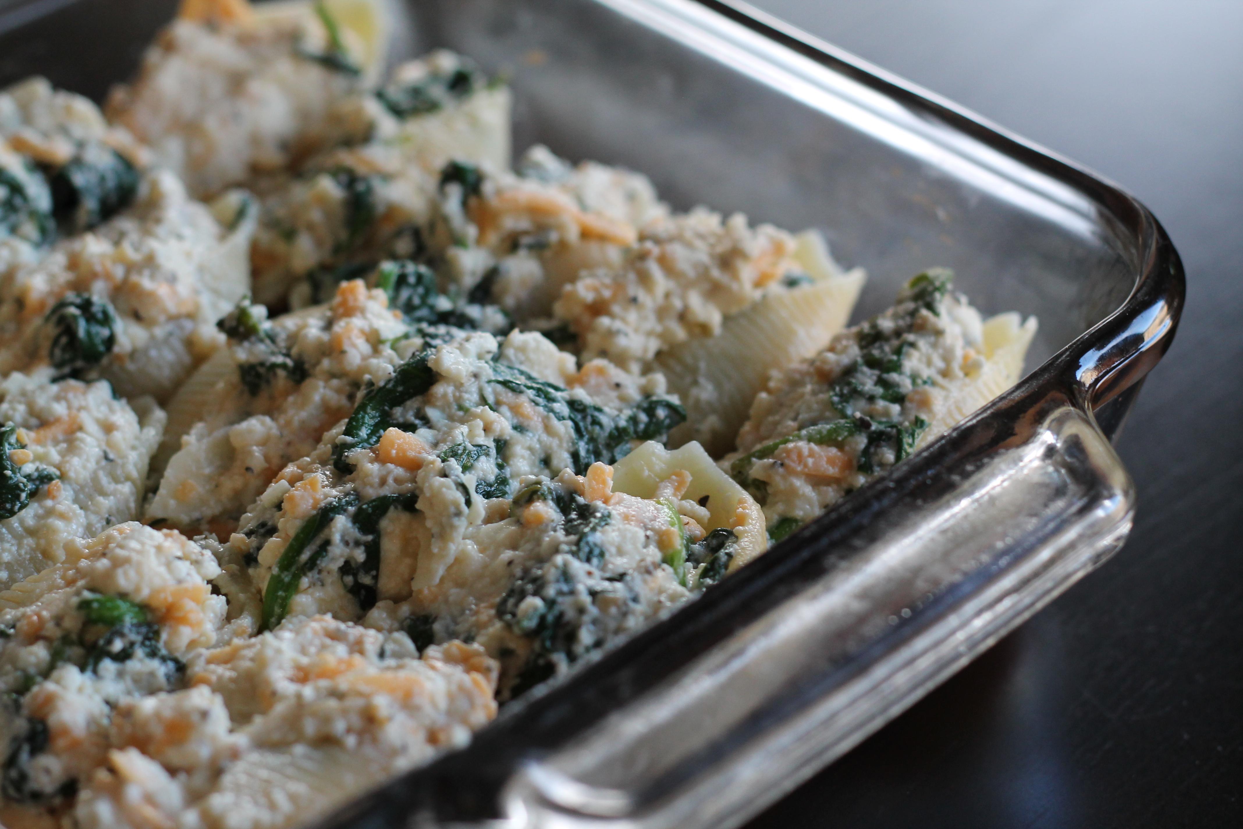 Spinach Ricotta Jumbo Shells